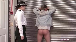 UNSPOILED HARDCORE FILMS Sting a buxomy police dame for doll-sized excellent