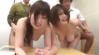 asian Office girls nylons with an increment of pantyhose time detention part 4